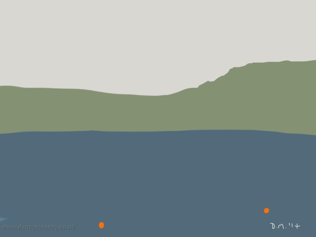 Danny Mooney 'Orange bouys, 28/7/2014' iPad drawing #APAD